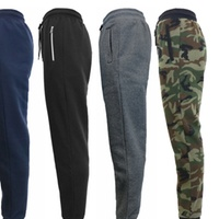 Deals on Galaxy By Harvic Mens Slim Fit Fleece Jogger Pants
