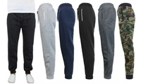 Galaxy By Harvic Men's Slim Fit Fleece Jogger Pants (Multi Choice)
