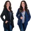 Agiato Women's Fleece-Lined Open Cardigans (3-Pack)