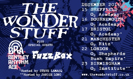 The Wonder Stuff, General Admission Ticket, 15 - 23 December, Multiple Locations