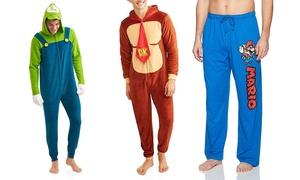 Nintendo Men's Character Pajama Pants and Onesies