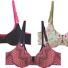 Solid and Print Underwire Bras (6-Pack)