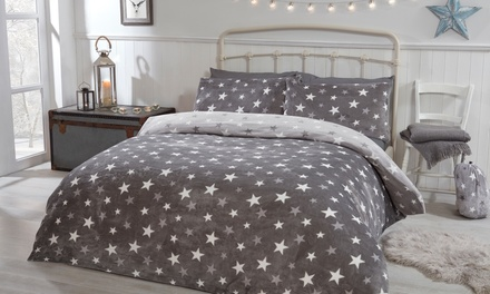 Pieridae Stars Cosy Fleece Reversible Duvet Set