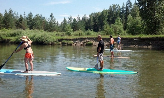 Sup Sandpoint - Sandpoint: Three-Hour Private Standup Paddle-Boarding Lesson for One or Two at SUP Sandpoint (Up to 50%Off)