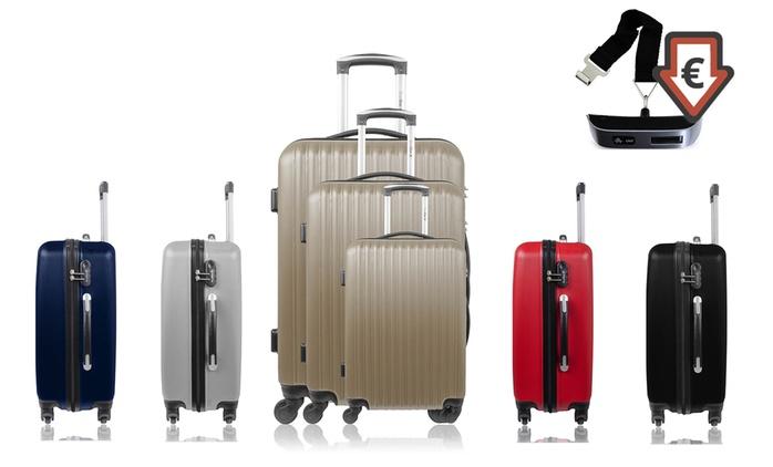 Set de 3 valises Florence coloris au choix + pèse bagage gratuit à 79,99 € (82% de réduction)