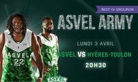 2 ou 4 places pour Asvel VS Hyères le lundi 3 avril 2017 à 20h30, dès 19 € à lAstroballe de Villeurbanne