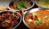 Menú de comida india para 2 o 4