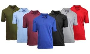 25066d38 Men's Comfort Poly Tech Pique Slim Fit Polo Shirt ...