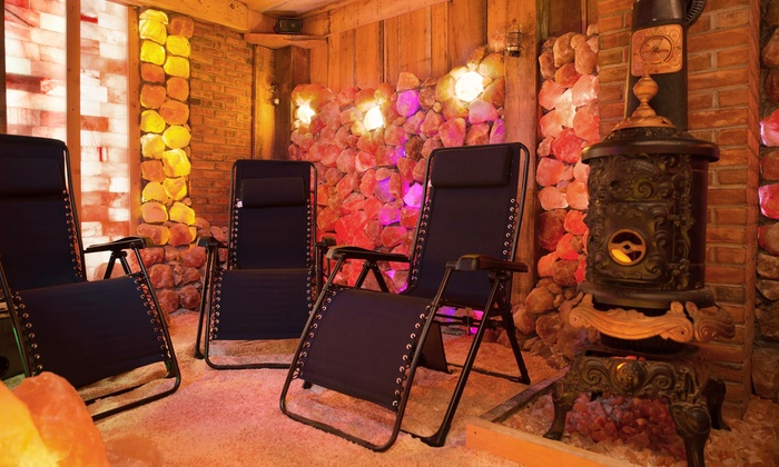 Salt cave sessions himalayan salt cave and spa for Livingsocial x room