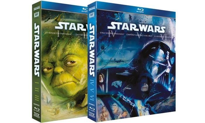 Groupon Goods Global GmbH: Cofanetti Star Wars episodi 1-3 e 4-6 in Blu-Ray by Warner Bros a 24,99 € (38% di sconto)