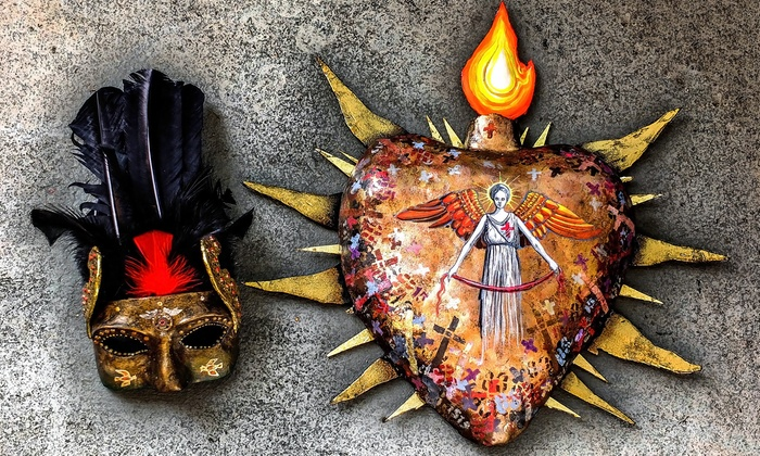 Make Paper Mache Mexican Folk Art - Northwest Berkeley: Paper-Mache a Day of the Dead Mask and a Sacred Heart