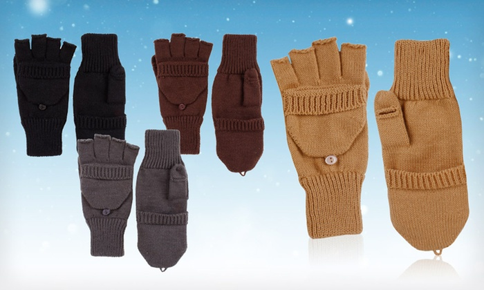 David & Young Men's Flip-Top Gloves: $9 for David & Young Men's Flip-Top Gloves for Texting ($12 List Price). Four Colors Available. Free Returns.