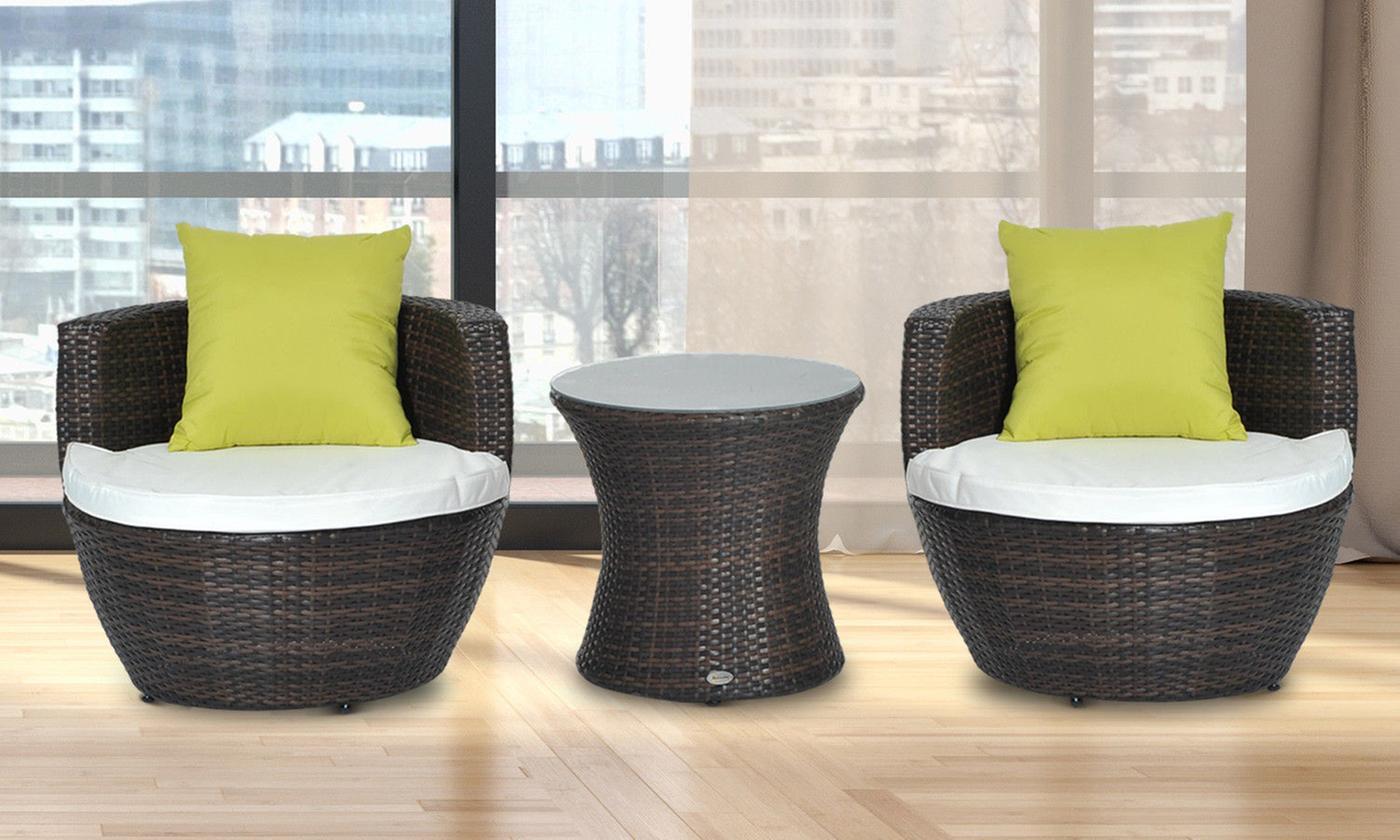 vase poly-rattan lounge set