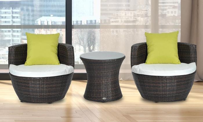 Outsunny Vase Lounge Set Groupon