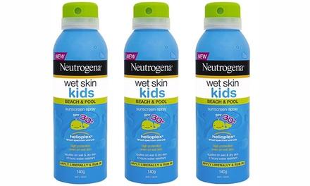 Neutrogena Wet Skin Sun Spray Kids' SPF30+: ThreePack $12.95 or SixPack $22.95 Don't Pay Up to $77.70
