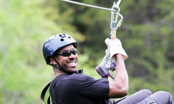 Wahoo Entertainment - 10: Zipline Adventure for One with Optional Souvenir T-Shirt from Wahoo Ziplines (Up to 46% Off)