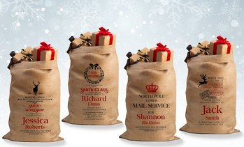 Hessian Personalised Festive Sack