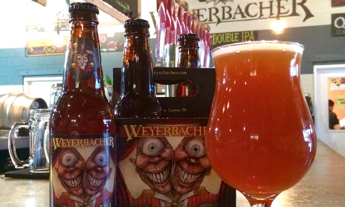 Weyerbacher Brewing Company - Weyerbacher Brewing Company: Beer Tasting with Growlers for Two or Four at Weyerbacher Brewing Company (Up to 38% Off)