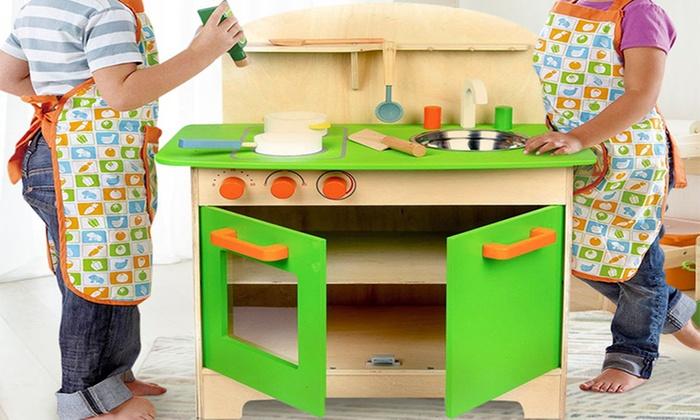 Fino a 50 su cucina giocattolo in legno groupon for Accessori cucina giocattolo