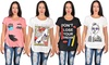 Americal Clothing Women's Plus Size Graphic Tees: Americal Clothing Women's Plus Size Graphic Tees