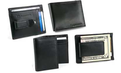 Shop Groupon Alpine Swiss Men's Genuine-Leather Wallet, Money Clip, or Card Case