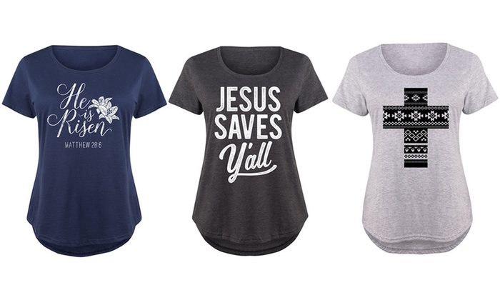 4820ca0f Women's Plus Religious Easter Tee (Plus Sizes Available) | Groupon