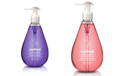 Method Gel Hand Wash; Six-Pack of 12oz. Bottles + 5% Back in Groupon Bucks. Multiple Scents Available. Free Returns.