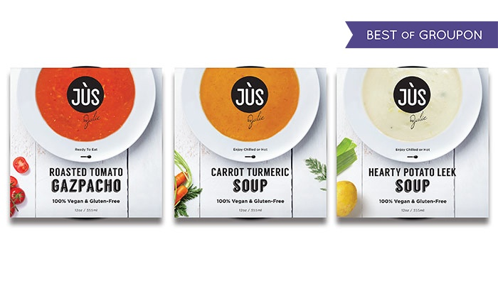 Jus by Julie: 6-, 12-, or 18-Pack of Vegan, Gluten-Free Soups from Jus by Julie (Up to 36% Off)