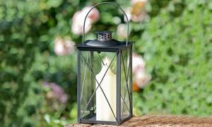 Lanterne en métal et verre
