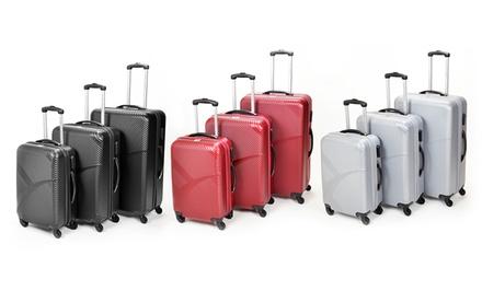 Champs 3-Piece Hardcase Spinner Luggage Set
