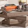 Safavieh Anwen Mid-Century Geometric Wood Coffee Table