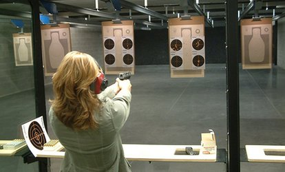 image for Range Package for Two with Optional Ammo or Basic Pistol Safety Class for 1 or 2 at Openrange (Up to 59% Off)