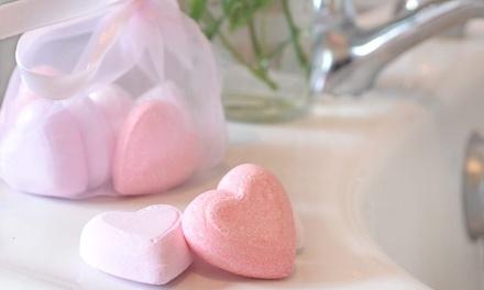 1 o 2 packs de bombas de baño con forma de corazón con envío gratuito