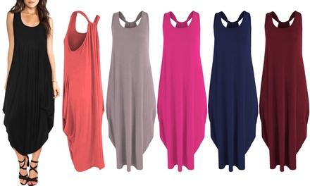 Sleeveless Boho-Style Baggy Dress