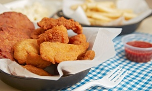 Liquid Cafe: American Pub Food and Drinks for Two or Four at Liquid Café (Up to 50% Off)
