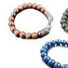 Blackjack Men's Semi-Precious Gemstone Bead Bracelets