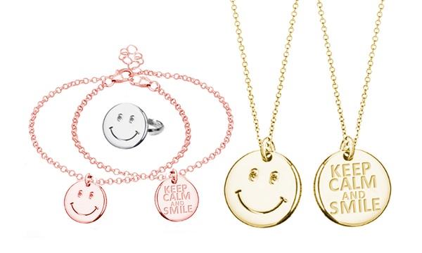 Ring, Halskette, Armband oder ein ganzes Schmuck Set mit Smileys in der Farbe nach Wahl