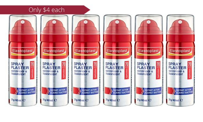 Elastoplast Waterproof and Transparent Spray Plaster 40ml - Six ($24) or  Twelve Bottles ($39) (Don't Pay up to $160 68)
