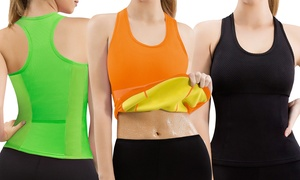 Women's Sweat Shaper Sports Tank. Plus Sizes Available.