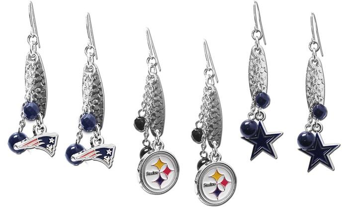NFL Logo Dangler Earrings: NFL Logo Dangler Earrings