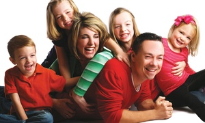 Glamour Shots: Family Photo Shoot Including Hair & Makeup for One or Two Plus Digital and Print Images at Glamour Shots