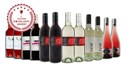 $69 for a Mixed 12Bottle Valentine's Pack of Red and White Wine Including FiveStar Winery Wines Don't Pay $189
