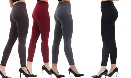Up to Six Pairs of Thick Seamless Fleece-Lined Leggings