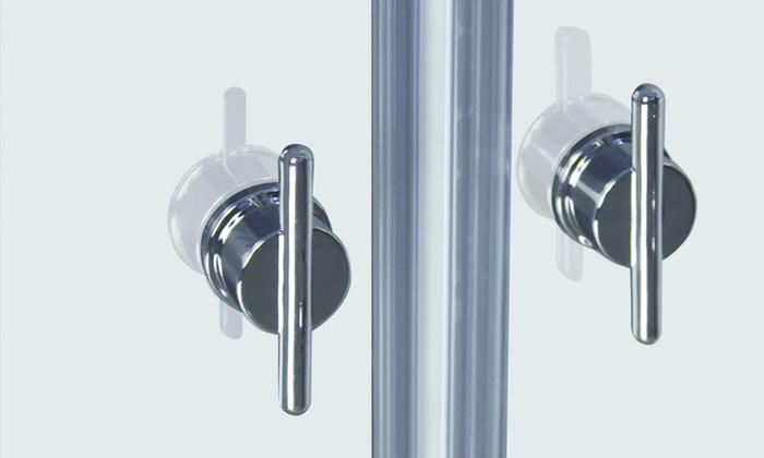 Puertas de vidrio para el ba o groupon goods - Puertas para el bano ...