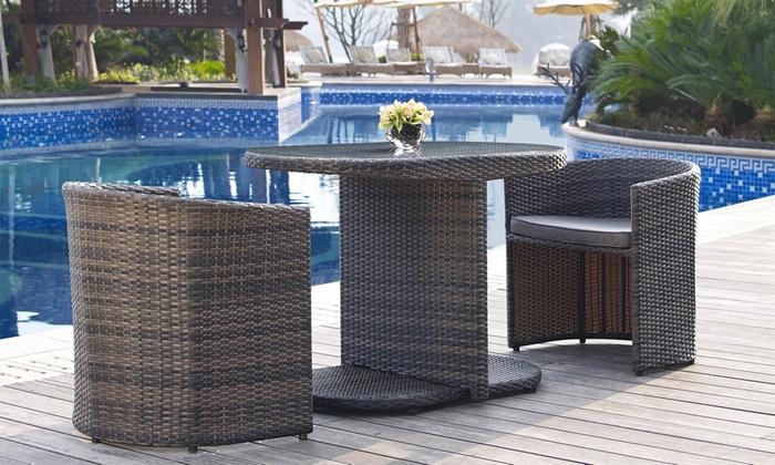 Groupon Mobili Da Giardino.Set Di 2 Sedie E Tavolo Da Giardino Disponibili In 2 Colori