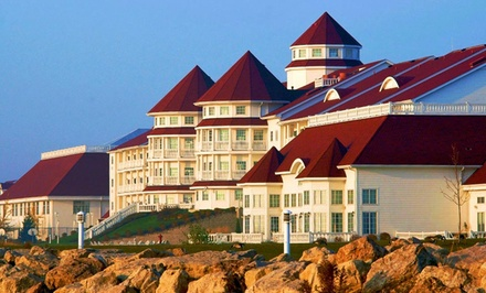 groupon daily deal - Stay with Water-Park Passes at Blue Harbor Resort in Sheboygan, WI. Dates Available into June.