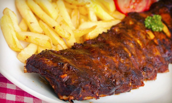 Phoebe's Bar-B-Q - Graduate Hospital: Takeout Meal for Two or Four, or Catering Package with Ribs and Pork for Up to 10 at Phoebe's Bar-B-Q (Up to 54% Off)