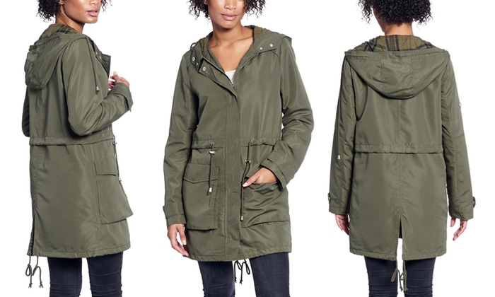 4e003cc18dca Up To 72% Off on Women s Lightweight Hooded Parka