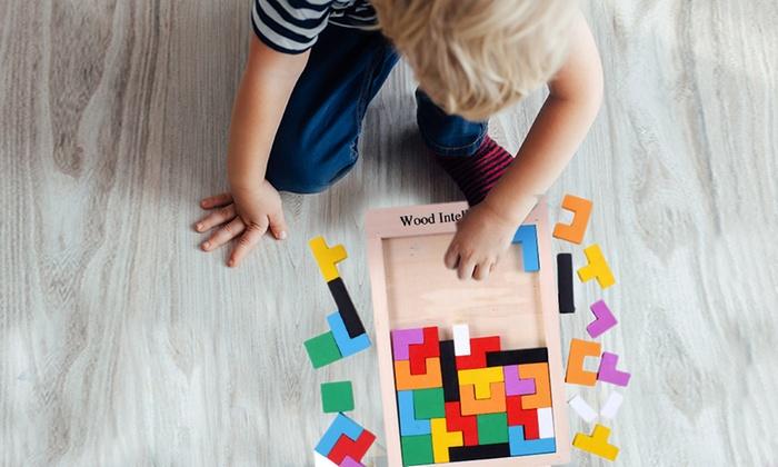 Puzzle in legno multicolore