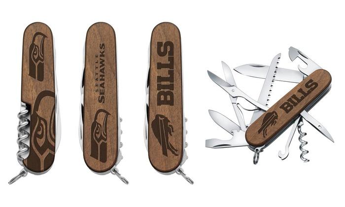 The Sports Vault Seattle Seahawks Classic Wood Pocket Multi-Tool